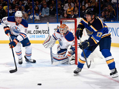 Talbot Shines But Oilers Fall To Blues