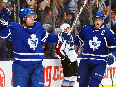 Maple Leafs top line steps up, leads team to OT win