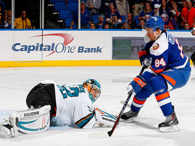 Isles lose Grabovski to injury against Sharks