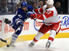 Maple Leafs fall to Red Wings, Kozun Injured