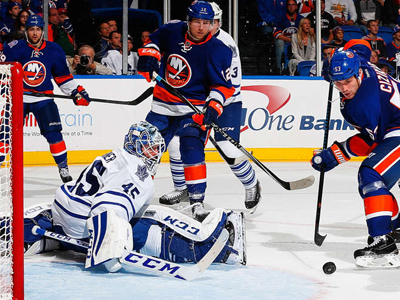 Maple Leafs roll over Islanders in second, secure victory