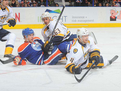 Preds blitz Oilers, snap four game streak