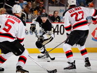 Fleury, Penguins shut out shorthanded Devils