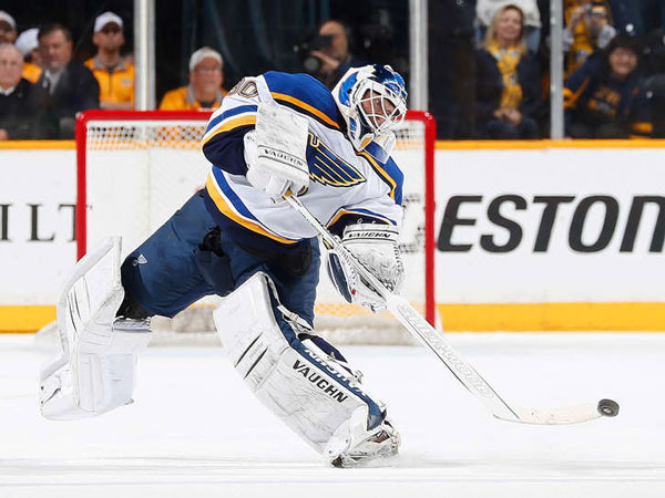 Blues lose Brodeur