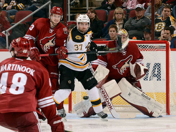 Bruins end skid with win against Coyotes