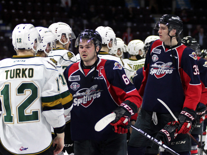 SNAPSHOT - Spits fall to Knights, swept out of Playoffs